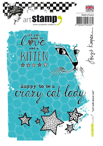 Carabelle - Let's Talk About Cats Cling Stamp Set