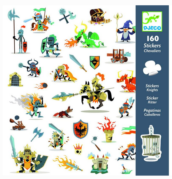 Djeco Stickers - Knights
