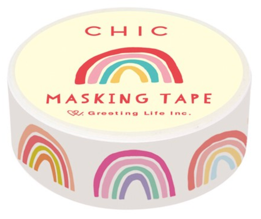 Chic Masking Tape - Rainbow Washi
