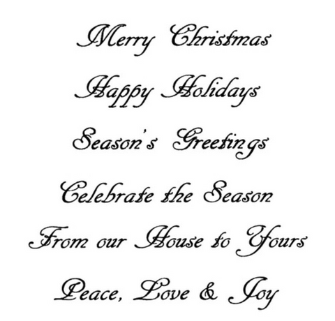 Christmas Sentiments Cling Stamp