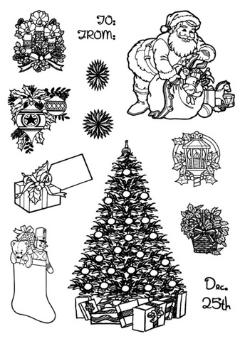 Christmas 2 Cling Stamp Set