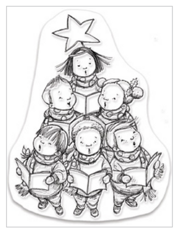 Penny Black Clear Stamps - Choir Kids