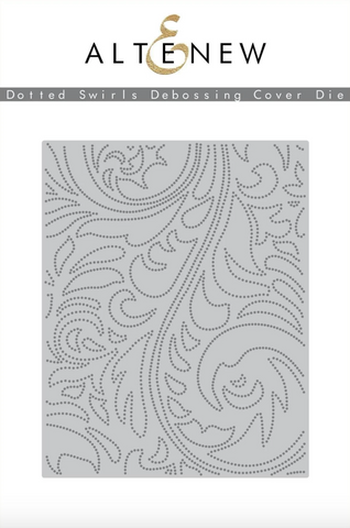 Altenew Debossing Dies - Dotted Swirls Cover Die