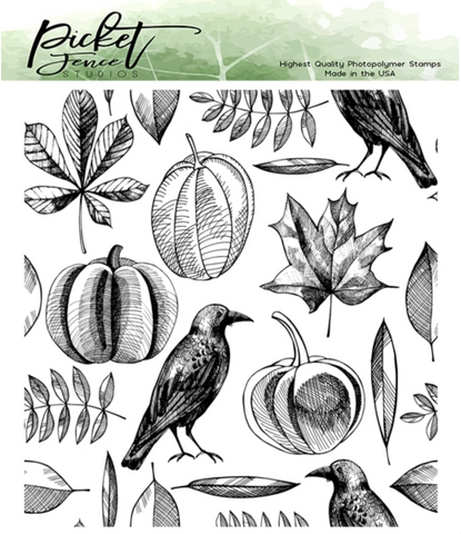 Picket Fence Studios Clear Stamps - Autumn Harvest Collage
