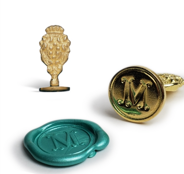 Florentine Brass Initial Wax Seal