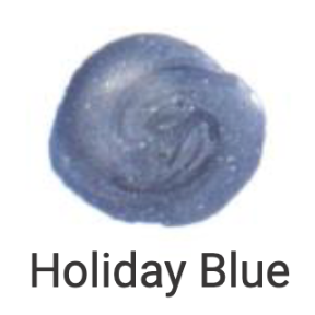 Large Wick Wax - Holiday Blue, Pack of 3