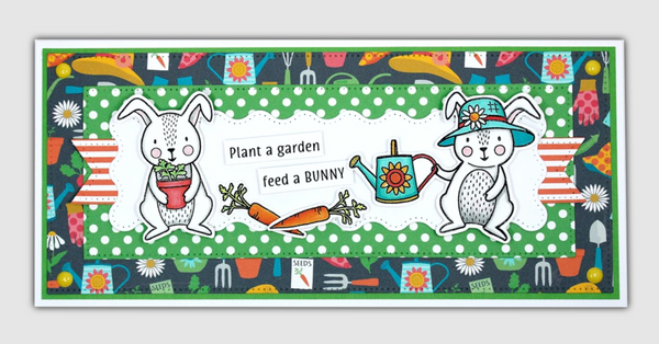 Dare 2B Artzy Clear Stamps - Honey Bunny