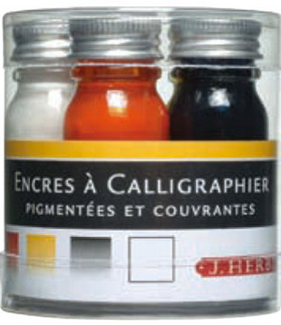 Calligraphy Ink Sampling 5 pack Primary