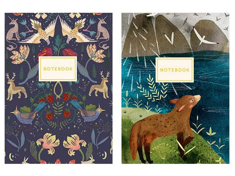 BV USA Set of 2 Fauna Notebooks
