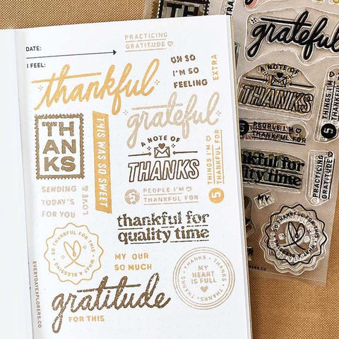 Everyday Explorers Co. So Much Gratitude - 4x6 Clear Stamp Set