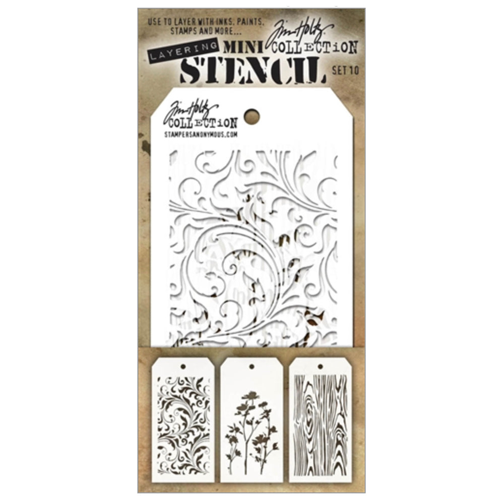 Tim Holtz Mini Stencil Set #10