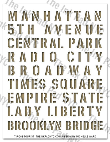 NYC Tourist Stencil - The Ink Pad - 1