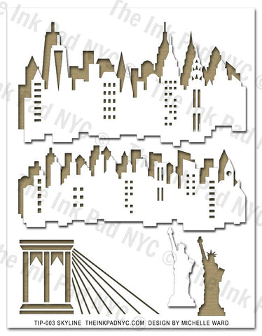 NYC Skyline Stencil & Masks - The Ink Pad - 1
