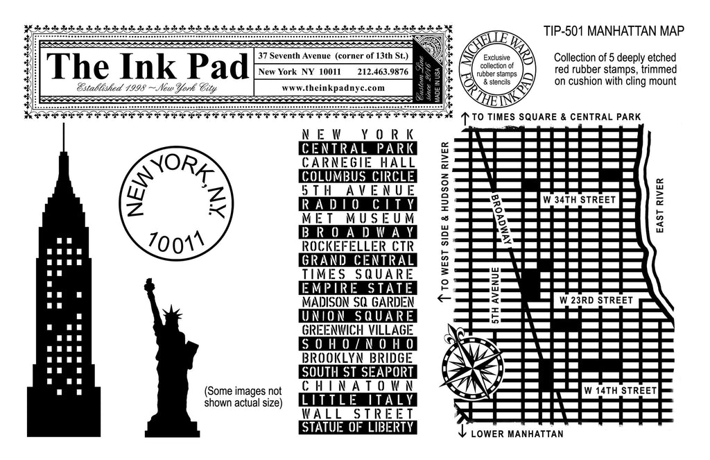 Manhattan Map UM Set - The Ink Pad
