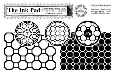 Manhole Hex UM Set - The Ink Pad