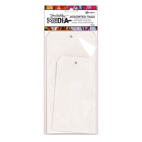 Dina Wakley Assorted White Tags - Large