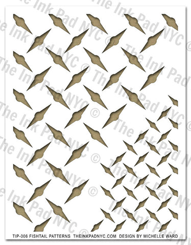Fishtail Pattern Stencil - The Ink Pad