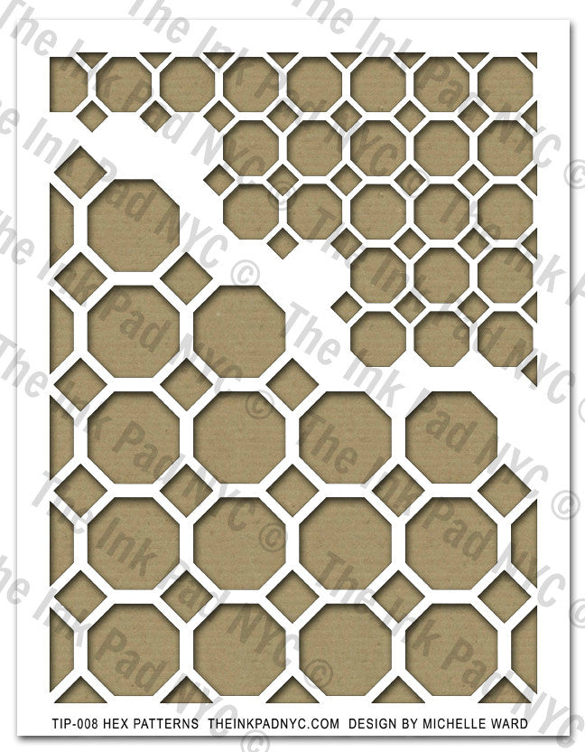 Hex Pattern Stencil - The Ink Pad
