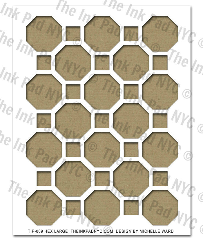 Large Hex Pattern Stencil - The Ink Pad