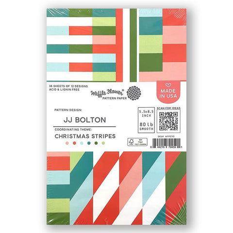 Waffle Flower Paper Pads - Christmas Stripes