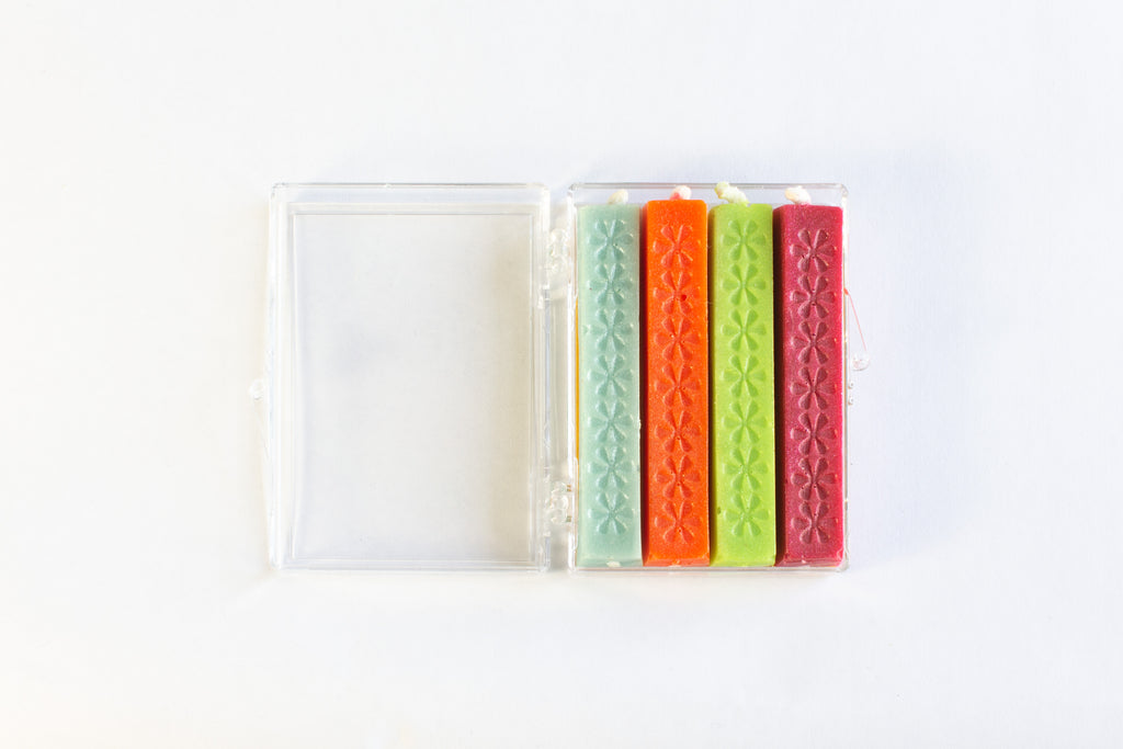 Small Wick Wax - Neon, Pack of 4