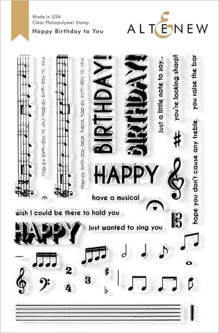 Altenew Happy Birthday to You Stamp Set