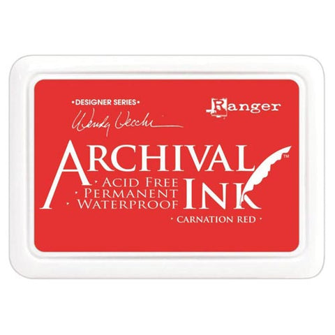 Archival Ink Pad CARNATION RED