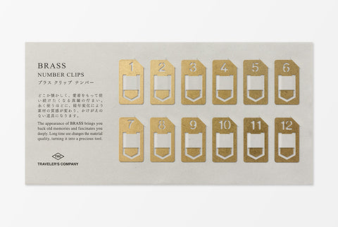 Traveler's Company - Brass Number Clips