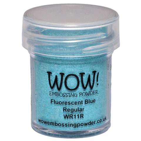 WOW! Fluorescent Blue Regular Embossing Powder