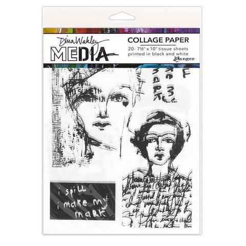 Dina Wakley Media Collage Paper - Vintage & Sketches