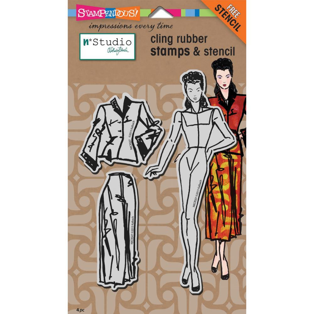 Stampendous Fashion Dame Cling Stamps