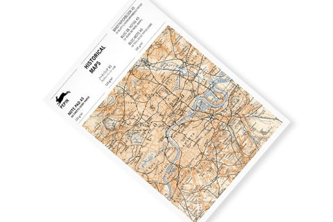 Pepin A5 Note Pad: Historical Maps