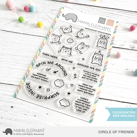 Mama Elephant Circle of Friends Stamp Set