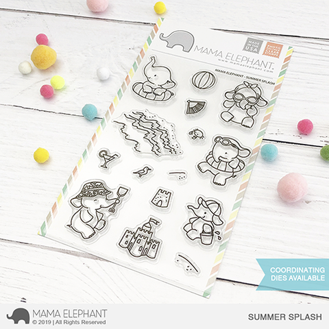 Mama Elephant Summer Splash Clear Stamps