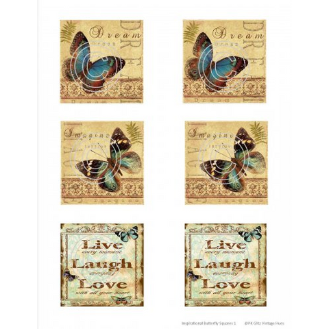 Stamp On It Art Acetate - Inspirational Butterfly Squares 1