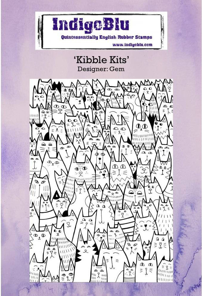 Indigo Blu Kibble Kits Cling Stamp - The Ink Pad