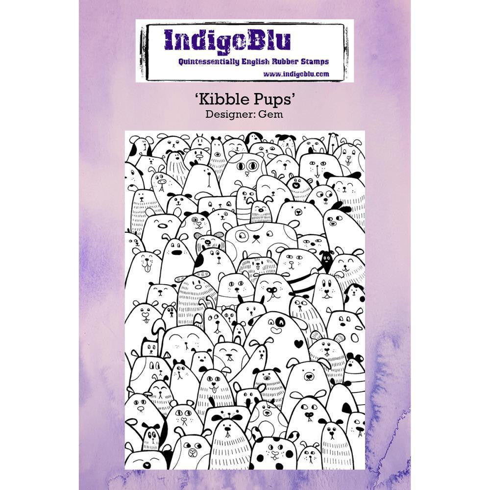 Indigo Blu Kibble Pups Cling Stamp - The Ink Pad