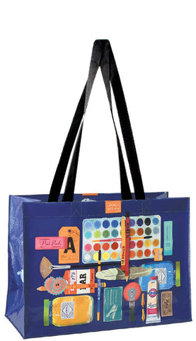 Linnea Horizontal Shoulder Tote - Paint Supplies