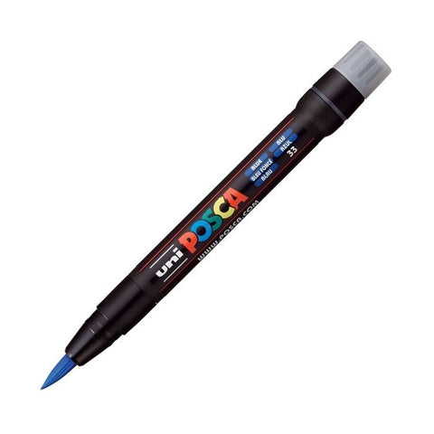 Posca PC-350F Brush Paint Marker - Blue