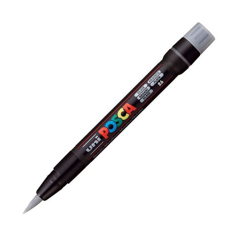 Posca PC-350F Brush Paint Marker - Silver