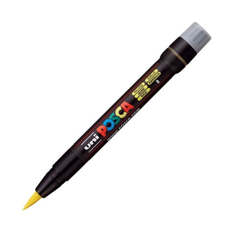 Posca PC-350F Brush Paint Marker - Yellow