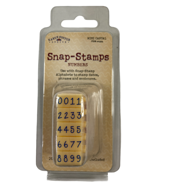 Karen Foster Snap - Stamps - Numbers Small