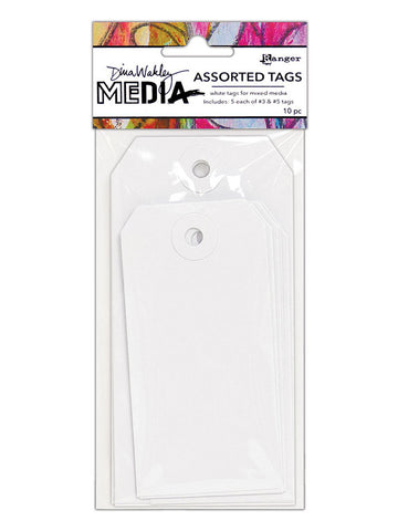 Dina Wakley Assorted White Tags - Small