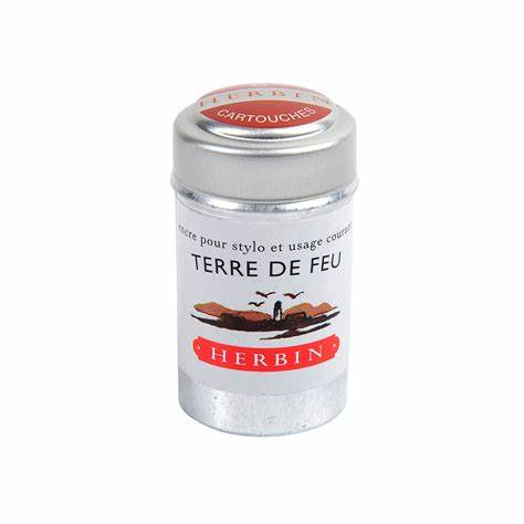 Herbin 6 Ink Cartridge Tin - Terre De Feu