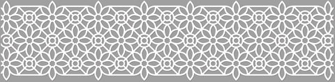 White Lace Tape - White Flower