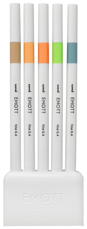 Emott Ever Fine Pens - Set of 5 'Nature'