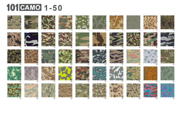 101 Camo - Seamless camouflage patterns