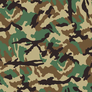 Woodland Camouflage Vector Pattern