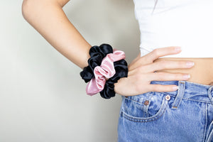 Free Satin Scrunchies