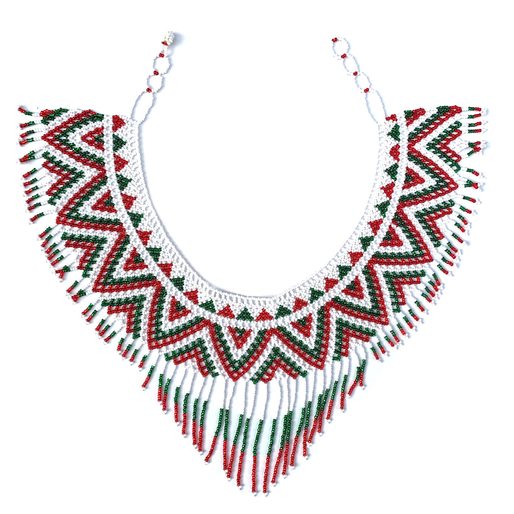 COLLAR MEXICANO DE CHAQUIRA TEJIDA